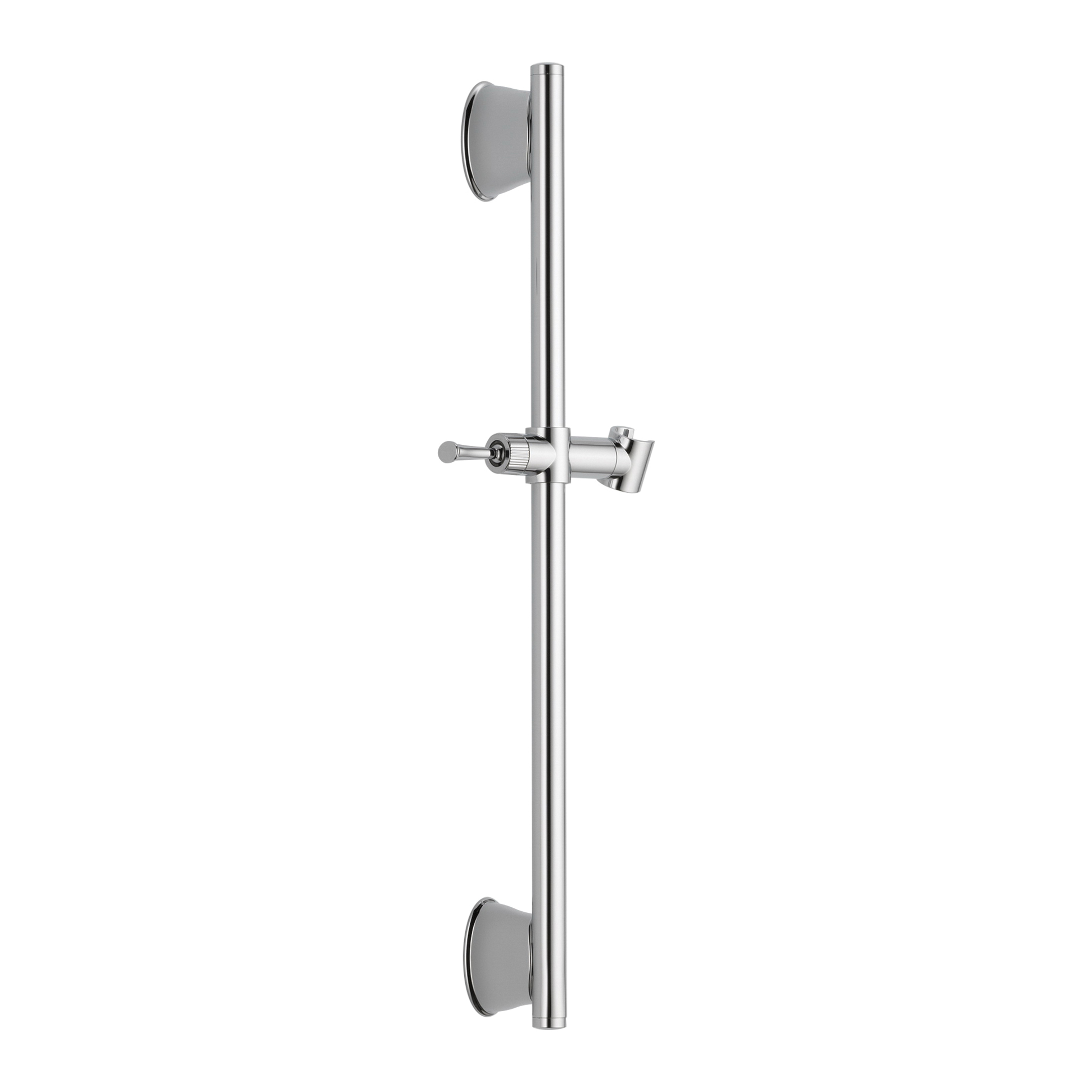 DELTA® 55044-PK Adjustable Wall Bar With Adjustable Slide, 24 in L Bar, 24-5/8 in OAL x 2-13/16 in OAD, Chrome Plated, Import