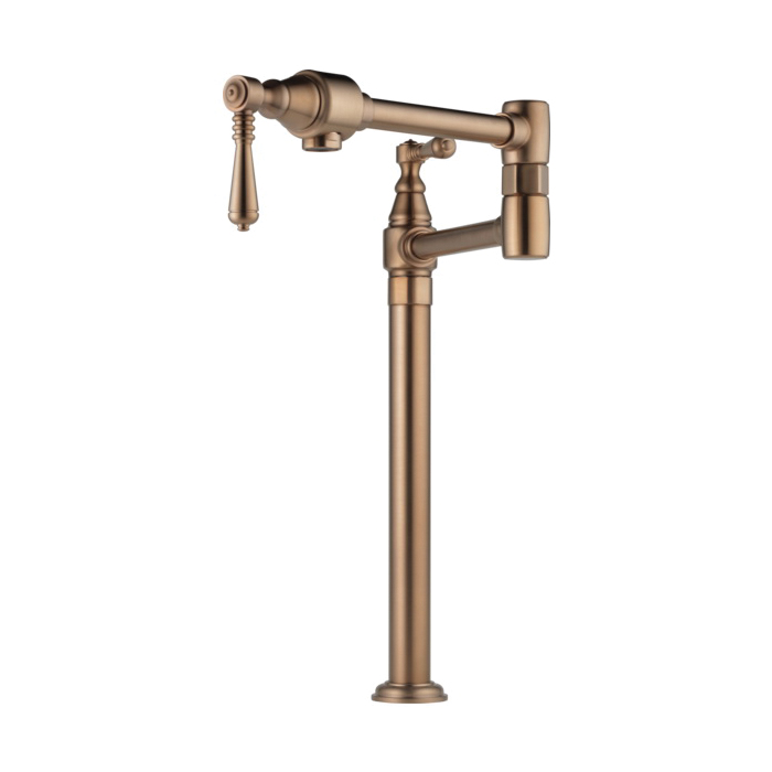 Brizo® 62710LF-BZ Traditional Pot Filler Faucet, 4 gpm, Brilliance® Brushed Bronze, 2 Handles, Import, Commercial