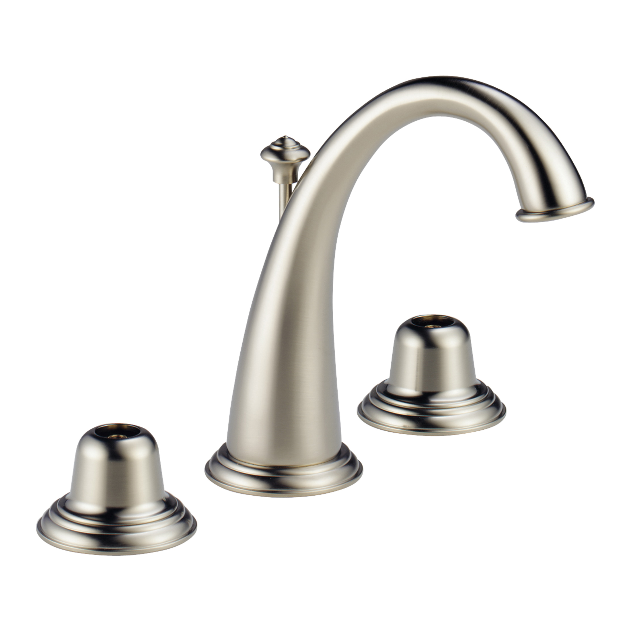 Brizo® 6520LF-BNLHP Providence™ Classic™ and Belle™ Widespread Lavatory Faucet Without Handle, 1.5 gpm, 4-3/4 in H Spout, 6 to 16 in Center, Brushed Nickel, Pop-Up Drain, Domestic, Commercial