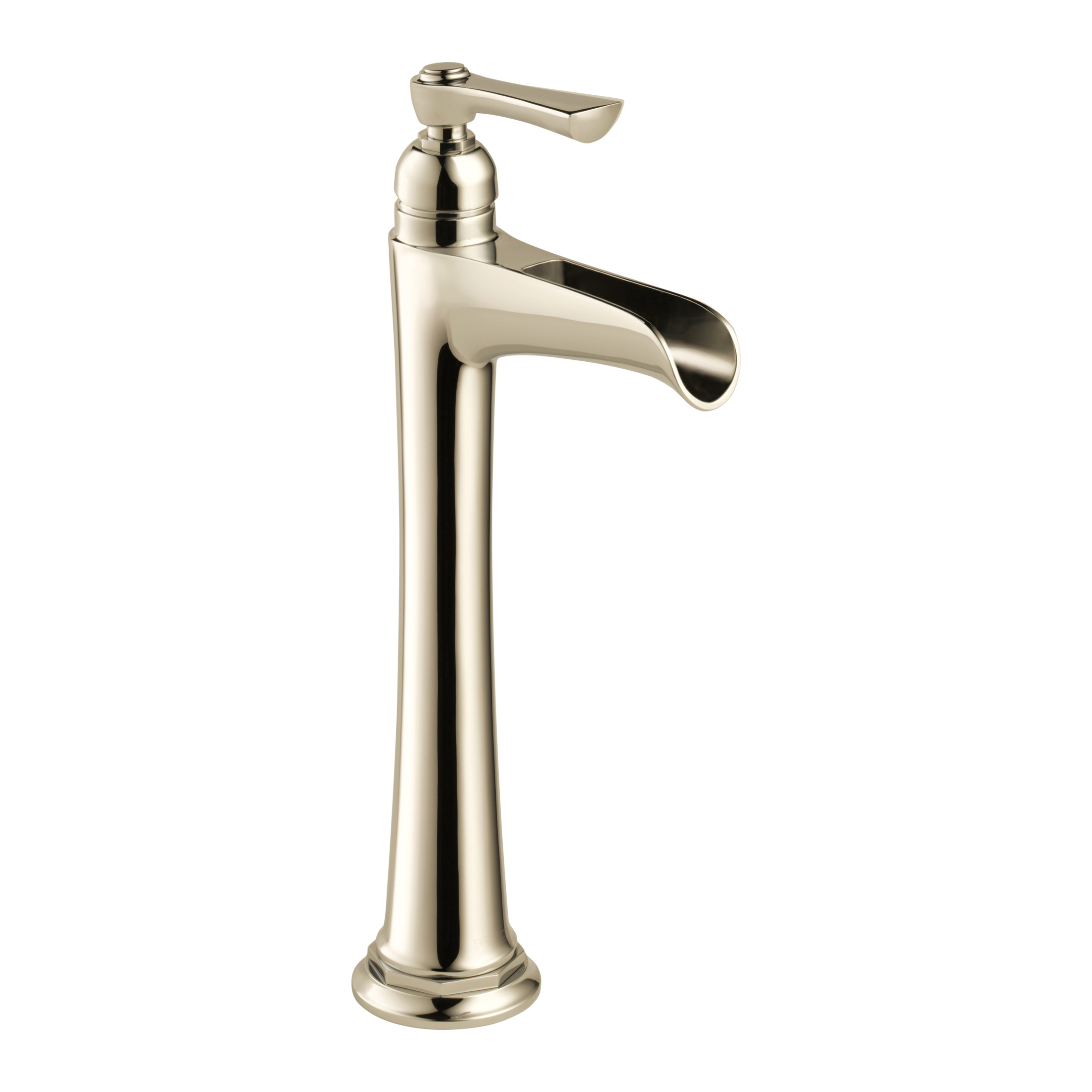 Brizo® 65461LF-PN Rook™ Vessel Lavatory Faucet Without Drain, 1.5 gpm, 10-1/4 in H Spout, 1 Handle, Polished Nickel, Import, Commercial
