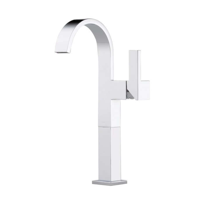 Brizo® 65480LF-PC-ECO Siderna® Vessel Lavatory Faucet Without Drain, 1.2 gpm, 9-5/8 in H Spout, 1 Handle, Chrome Plated, Import, Commercial