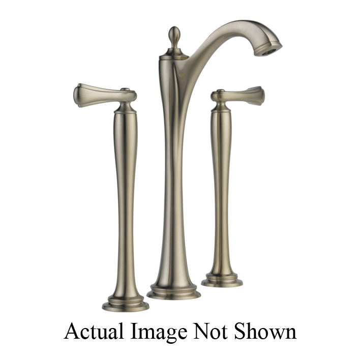 Brizo® 65485LF-BNLHP-ECO Charlotte® Widespread Vessel Lavatory Faucet Without Handle, 1.2 gpm, 11 in H Spout, 6 to 16 in Center, Grid Strainer Drain, Brushed Nickel, Import, Commercial
