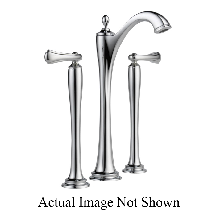 Brizo® 65485LF-PCLHP-ECO Charlotte® Widespread Vessel Lavatory Faucet Without Handle, 1.2 gpm, 11 in H Spout, 6 to 16 in Center, Grid Strainer Drain, Chrome Plated, Import, Commercial