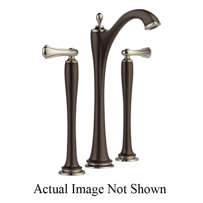 Brizo® 65485LF-PNCOLHP-ECO Charlotte® Widespread Vessel Lavatory Faucet Without Handle, 1.2 gpm, 11 in H Spout, 6 to 16 in Center, Grid Strainer Drain, Cocoa Bronze/Polished Nickel, Import, Commercial