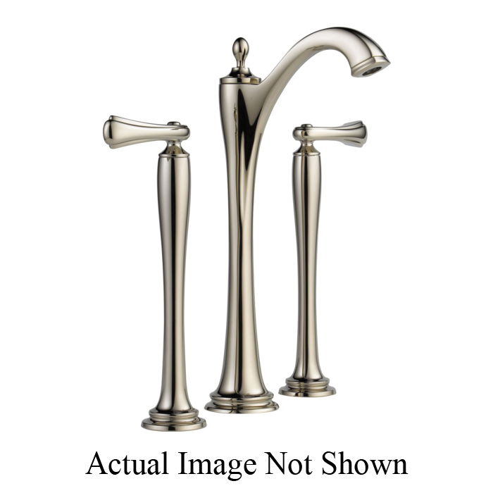 Brizo® 65485LF-PNLHP-ECO Charlotte® Widespread Vessel Lavatory Faucet Without Handle, 1.2 gpm, 11 in H Spout, 6 to 16 in Center, Grid Strainer Drain, Polished Nickel, Import, Commercial