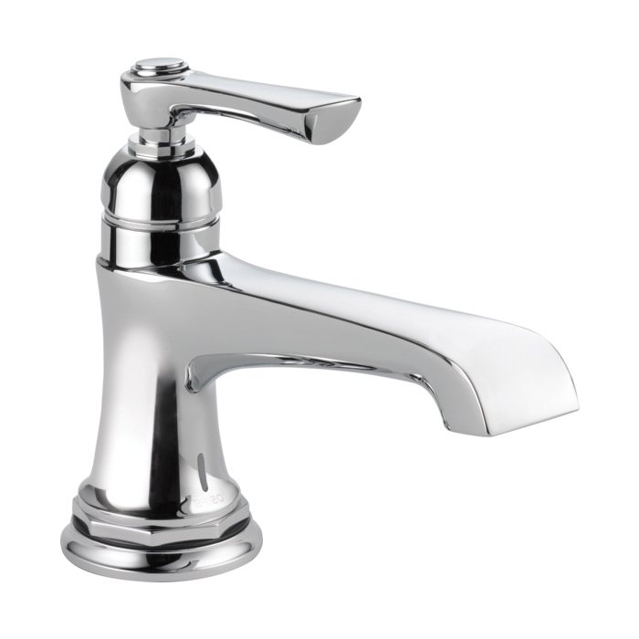 Brizo® 65960LF-PC-ECO Rook™ Lavatory Faucet Without Drain, 1.2 gpm, 3-1/4 in H Spout, 1 Handle, 1 Faucet Hole, Chrome Plated, Domestic, Commercial