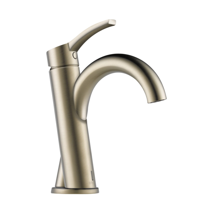 Brizo® 65975LF-BN-ECO Odin™ Lavatory Faucet Without Drain, 1.2 gpm, 3-3/4 in H Spout, 1 Handle, 1 Faucet Hole, Brushed Nickel, Domestic, Commercial