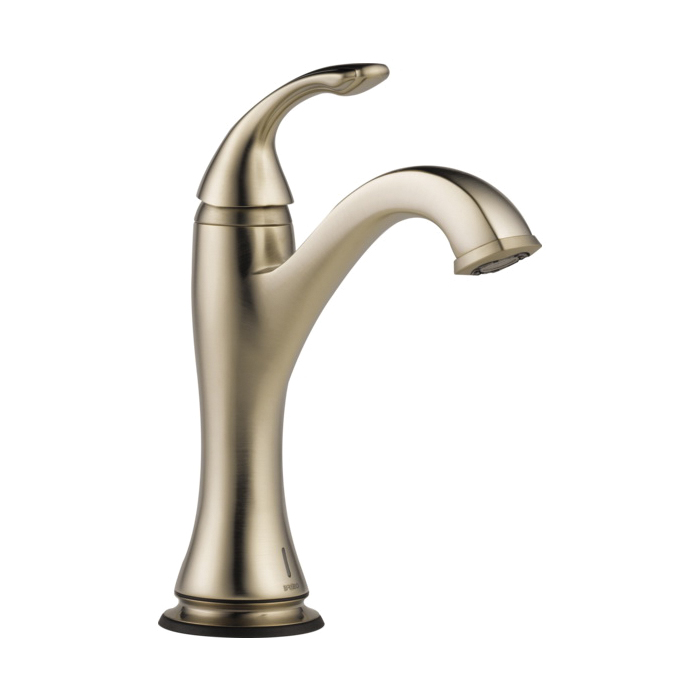 Brizo® 65985LF-BN-ECO Charlotte® Lavatory Faucet Without Drain, 1.2 gpm, 5-3/4 in H Spout, 1 Handle, 1 Faucet Hole, Brushed Nickel, Domestic, Commercial