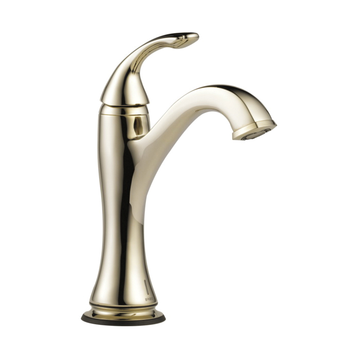 Brizo® 65985LF-PN-ECO Charlotte® Lavatory Faucet Without Drain, 1.2 gpm, 5-3/4 in H Spout, 1 Handle, 1 Faucet Hole, Polished Nickel, Domestic, Commercial