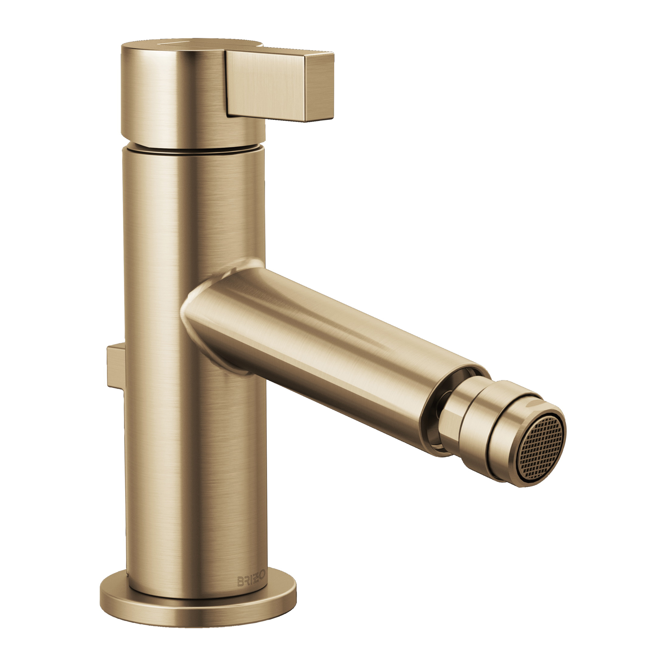 Brizo® 68135-GL Litze™ Bidet Faucet, 2-1/2 in H Spout, 1 Handle, Pop-Up Drain, Luxe Gold, Import, Commercial