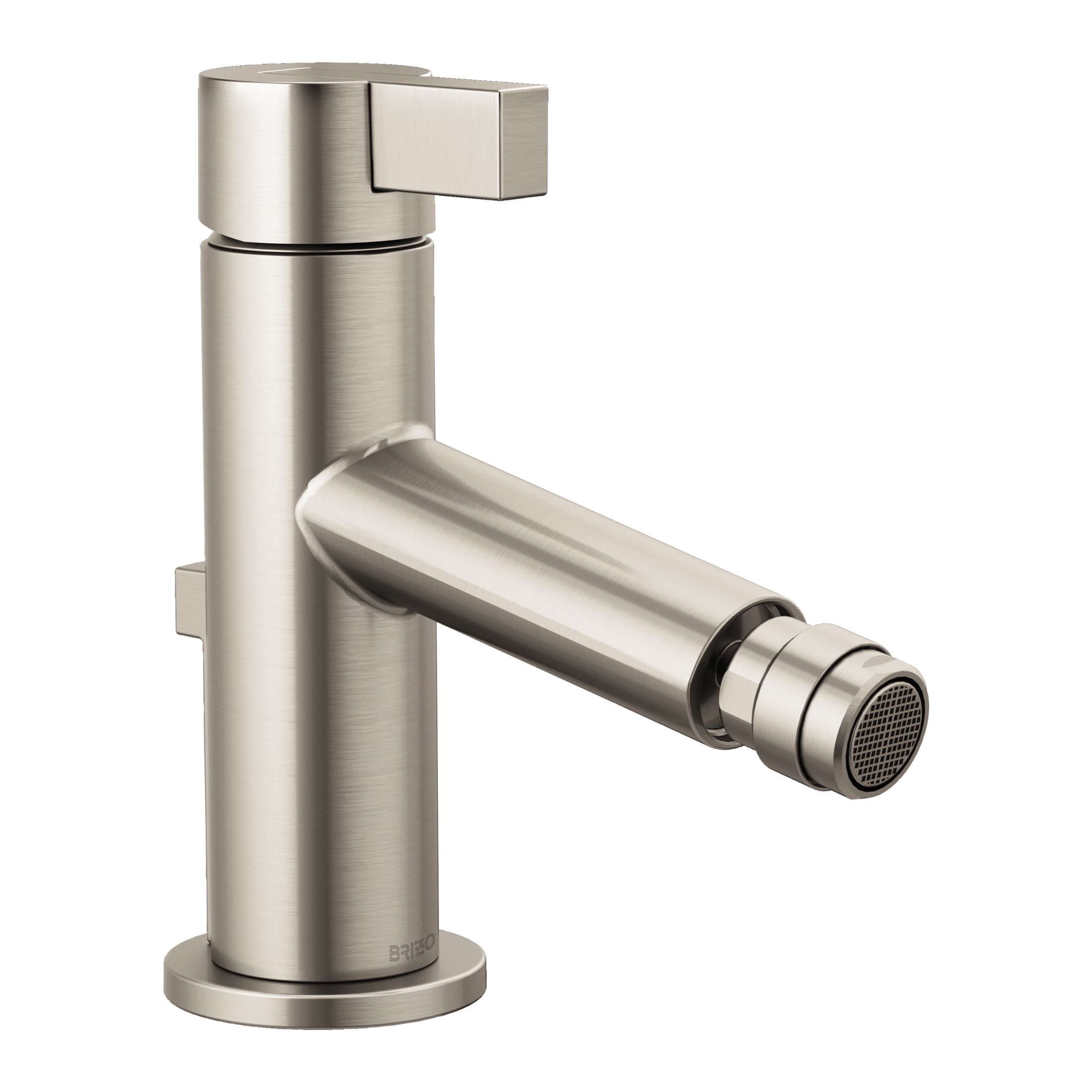 Brizo® 68135-NK Litze™ Bidet Faucet, 2-1/2 in H Spout, 1 Handle, Pop-Up Drain, Luxe Nickel, Import, Commercial
