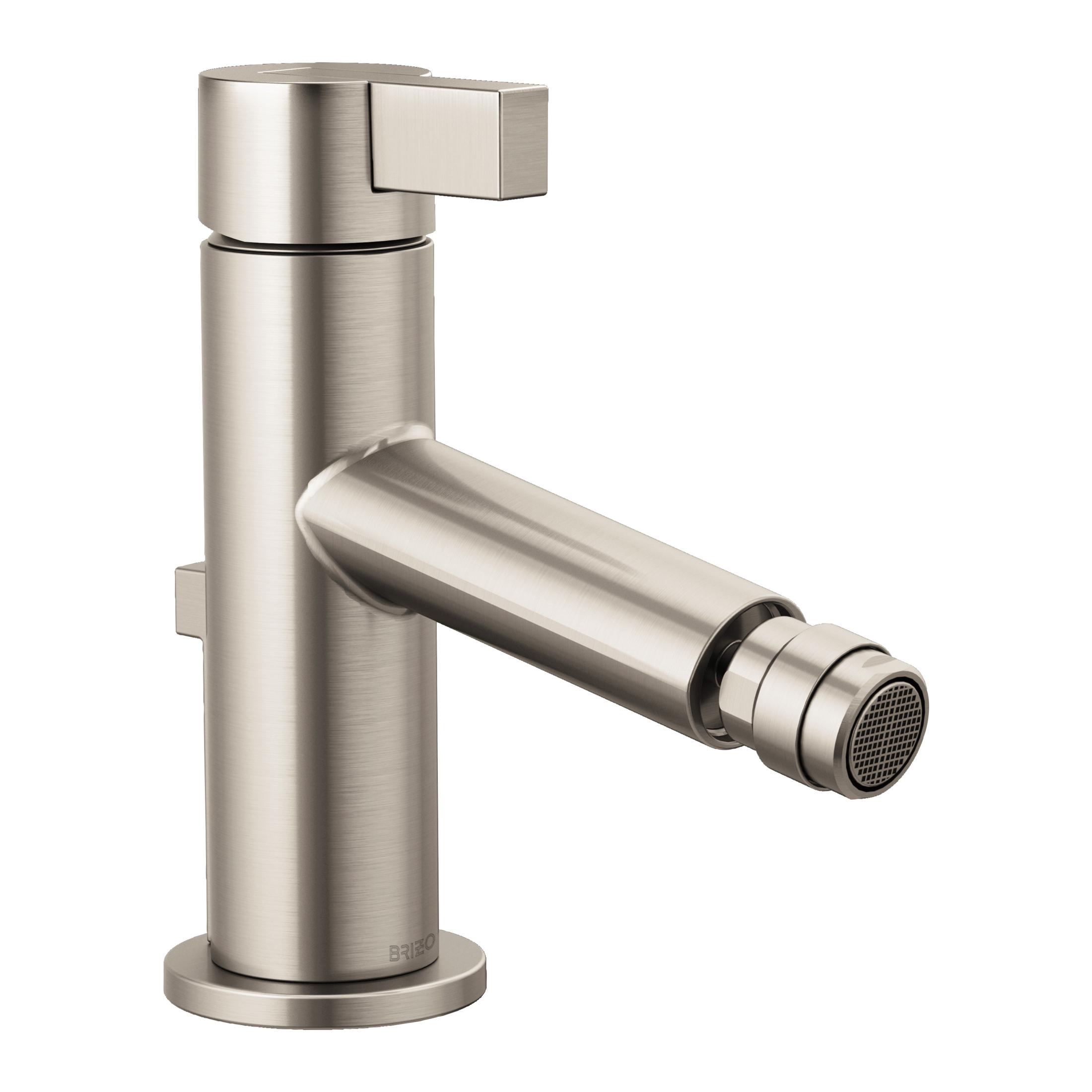 Brizo® 68135-NK Litze™ Bidet Faucet, 2-1/2 in H Spout, 1 Handle, Pop-Up Drain, Luxe Nickel, Import, Commercial