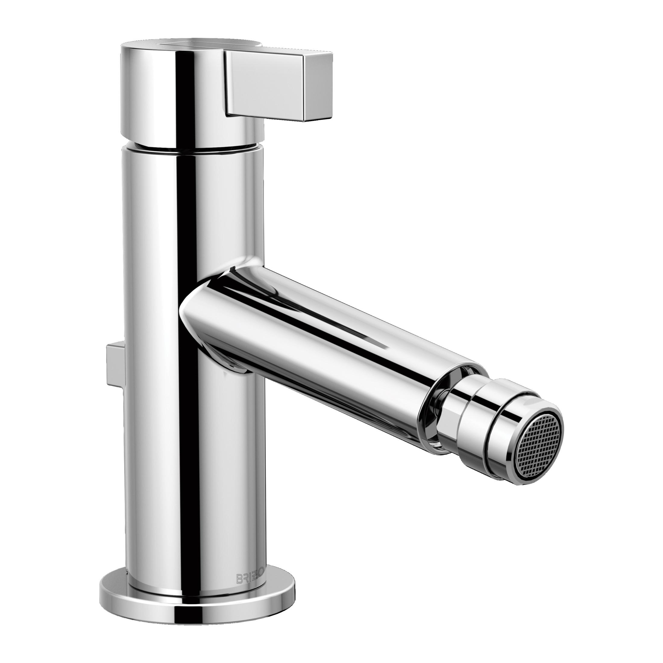 Brizo® 68135-PC Litze™ Bidet Faucet, 2-1/2 in H Spout, 1 Handle, Pop-Up Drain, Chrome Plated, Import, Commercial