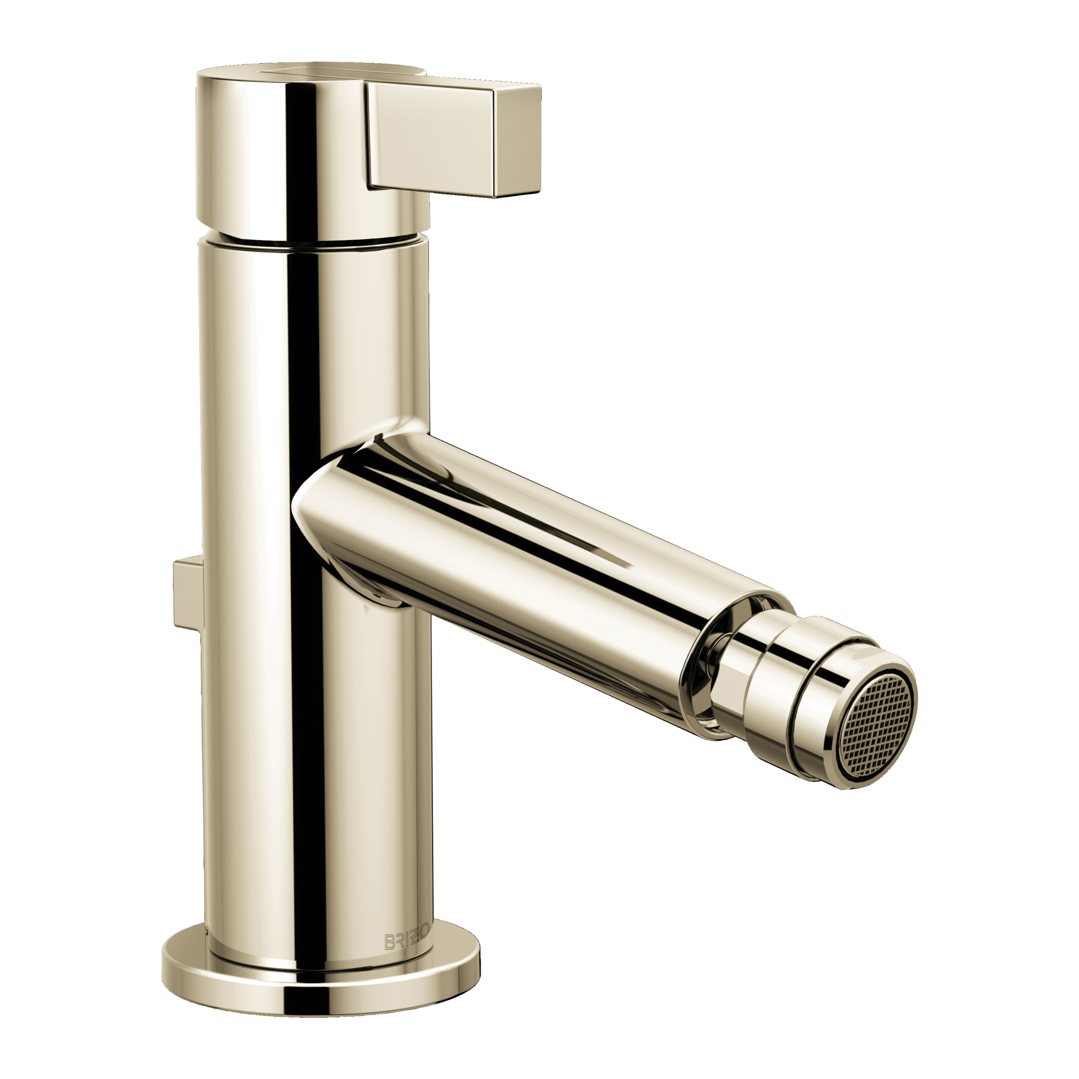 Brizo® 68135-PN Litze™ Bidet Faucet, 2-1/2 in H Spout, 1 Handle, Pop-Up Drain, Polished Nickel, Import, Commercial