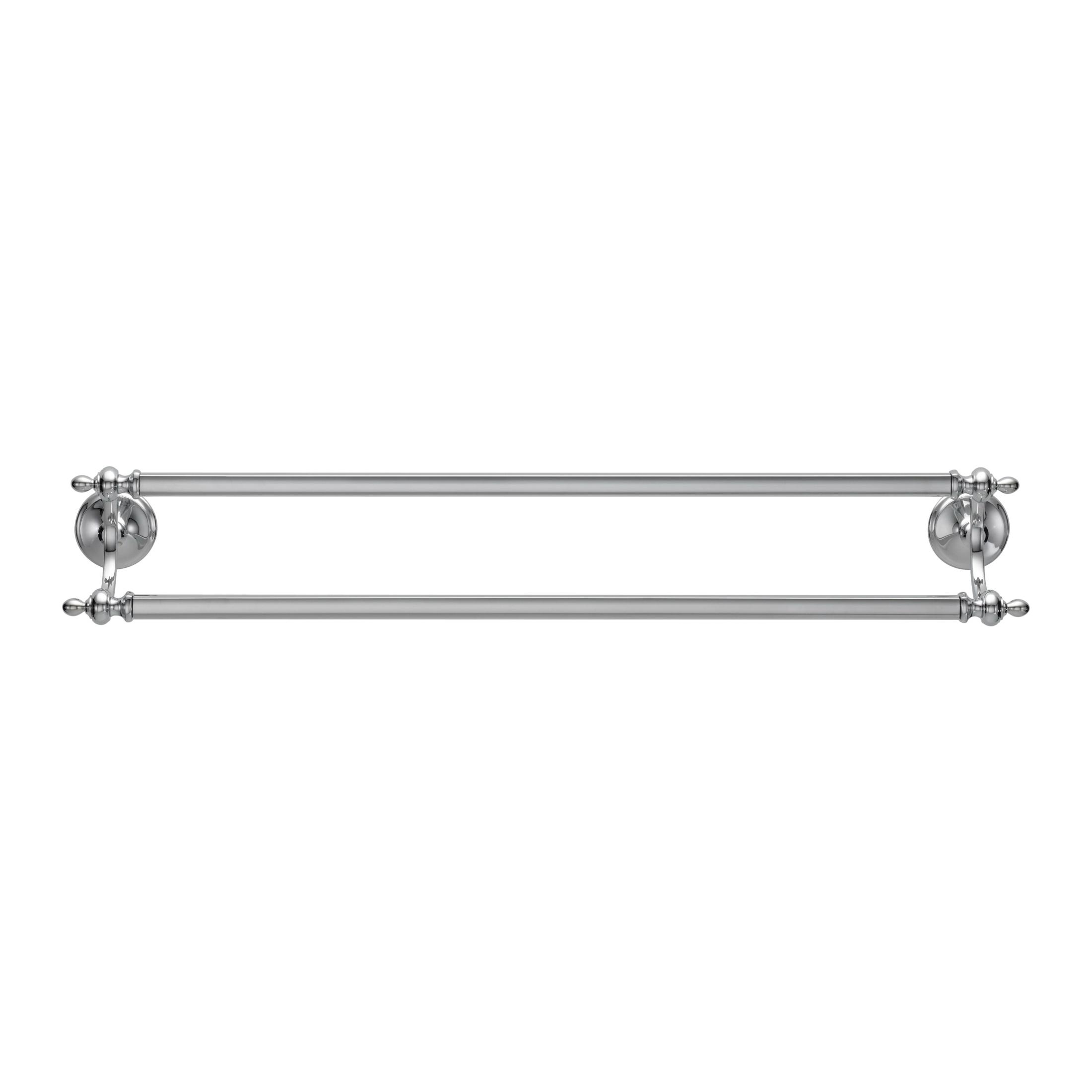 Brizo® 692585-PC Charlotte® Square Towel Bar, 24 in L Bar, 3-5/8 in OAD x 2-3/8 in OAH, Import