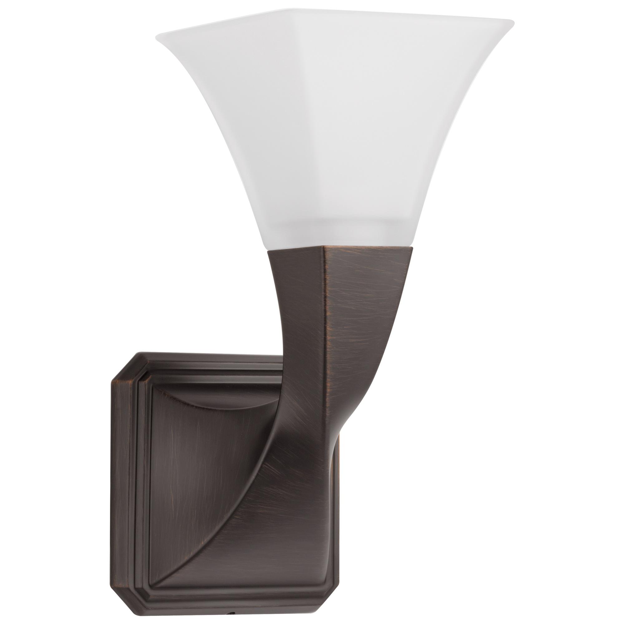 Brizo® 697030-RB Virage® Transitional Single Sconce Light, 120 VAC, Venetian Bronze, 1 Lamp, Import