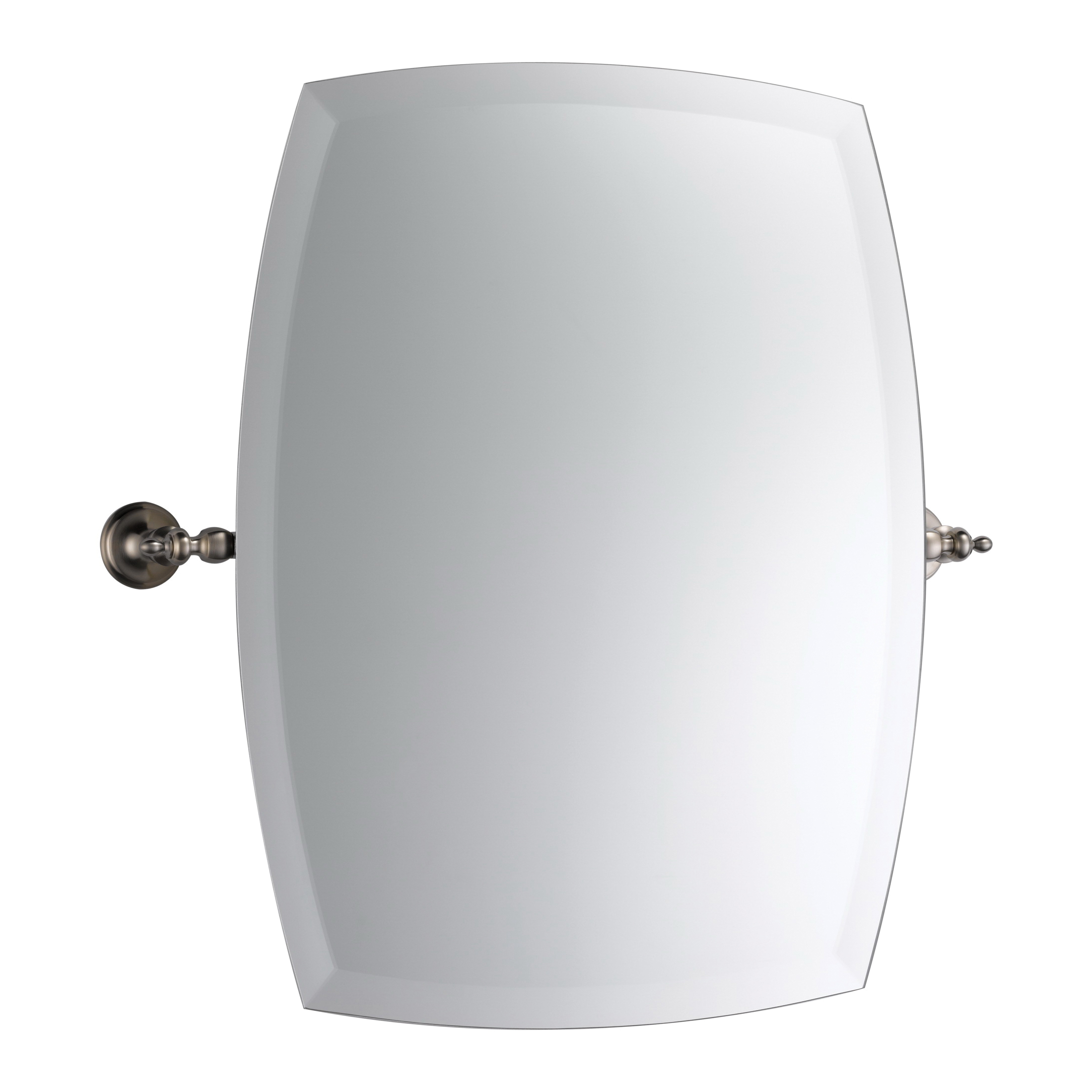 Brizo® 698085-BN Charlotte® Wall Mirror, Rectangular, 20 in W, Brushed Nickel, Import
