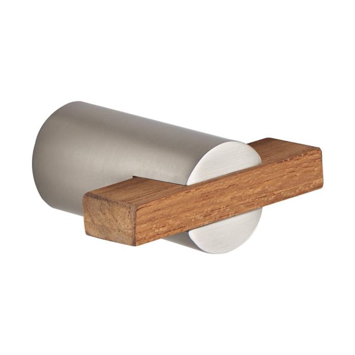 Brizo® 699135-NKTK Litze™ Drawer Pull, Metal, Luxe Nickel/Teak Wood, Import