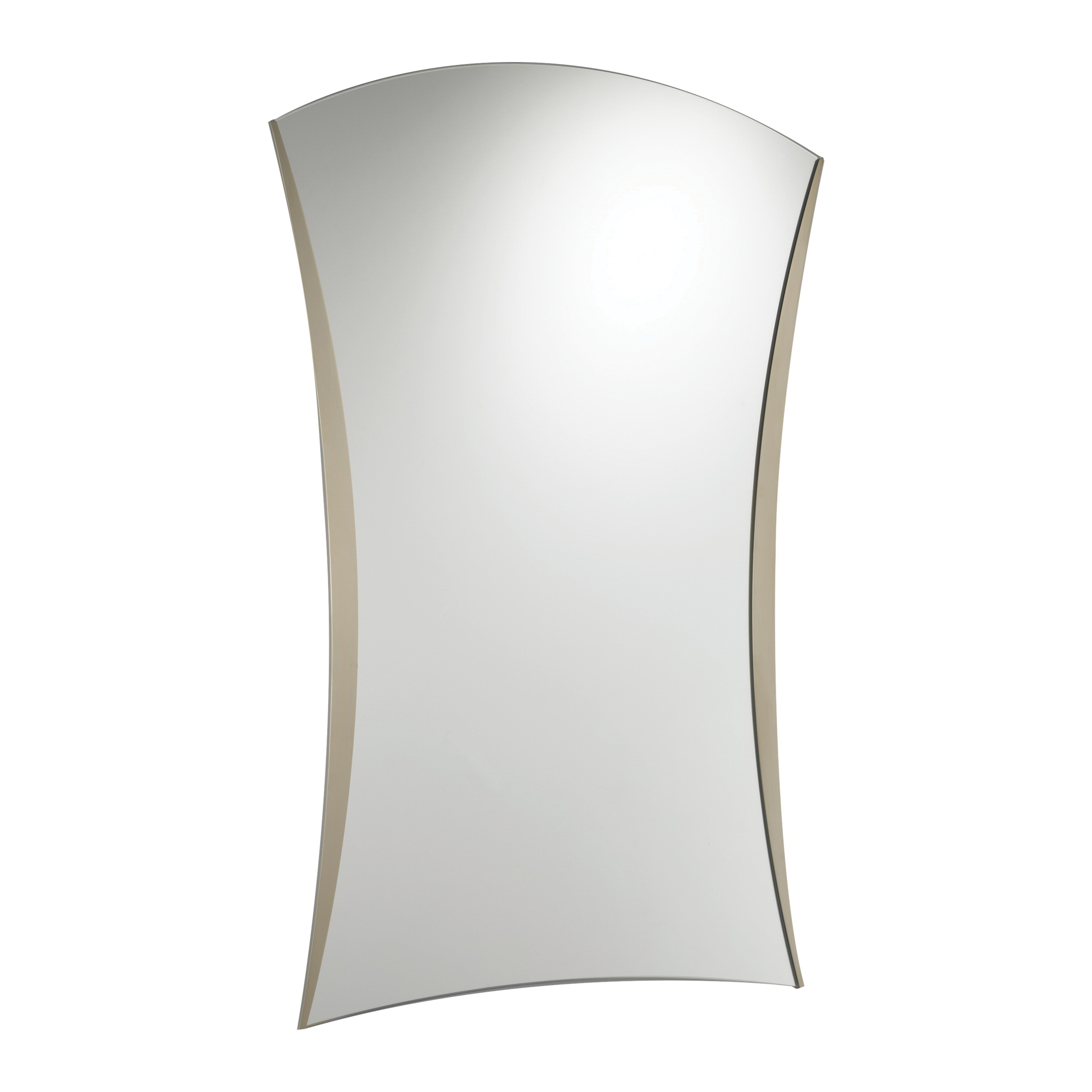 Brizo® 69980-BN RSVP® Wall Mirror, Rectangular, 22.91 in at Top and 20.85 in at Bottom W, Brushed Nickel, Import