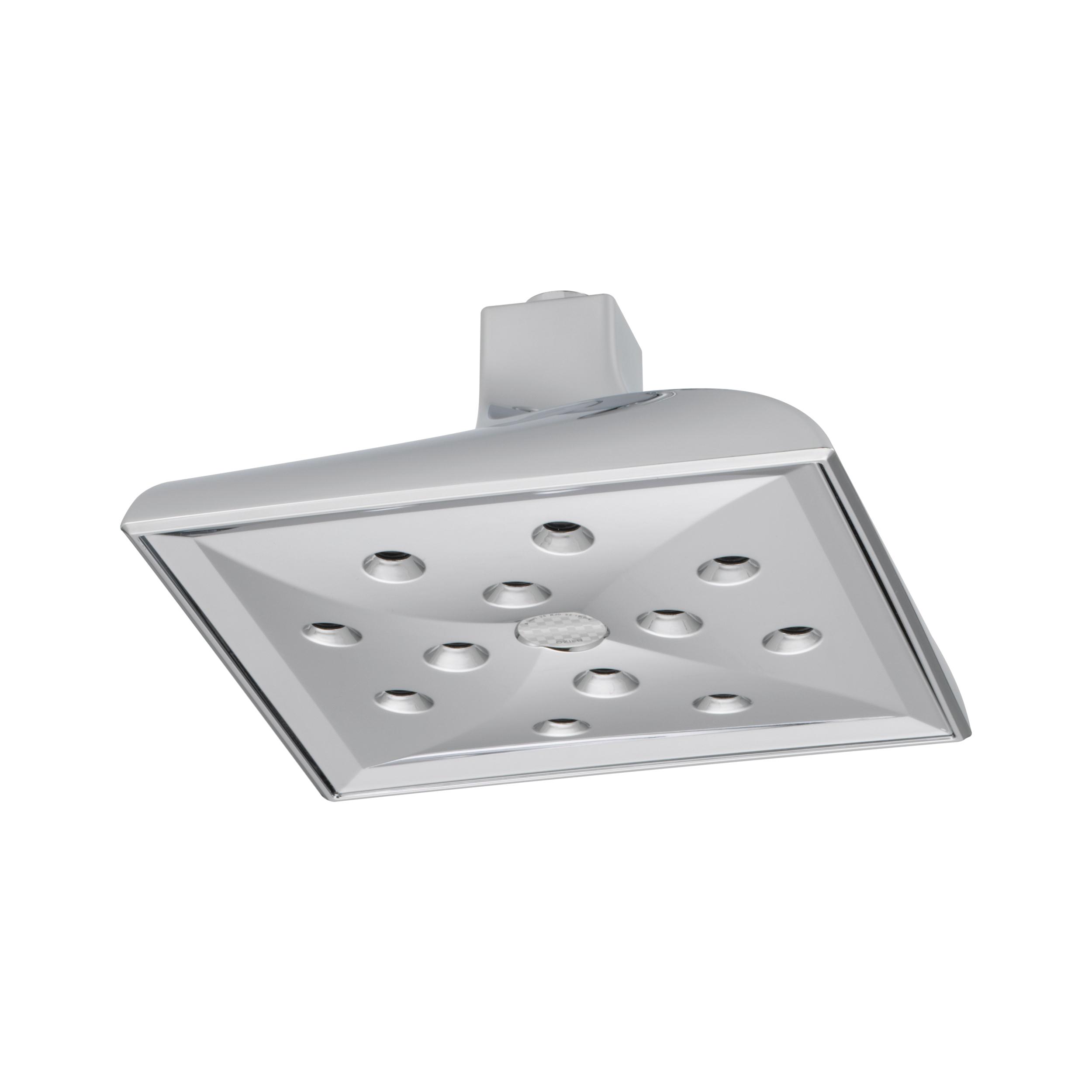 Brizo® 81330-PC-ECO Virage® Raincan Shower Head, 2 gpm Maximum, 1 Spray, Ceiling Mount, 8 in L x 8 in W x 3-3/4 in H Head, Domestic