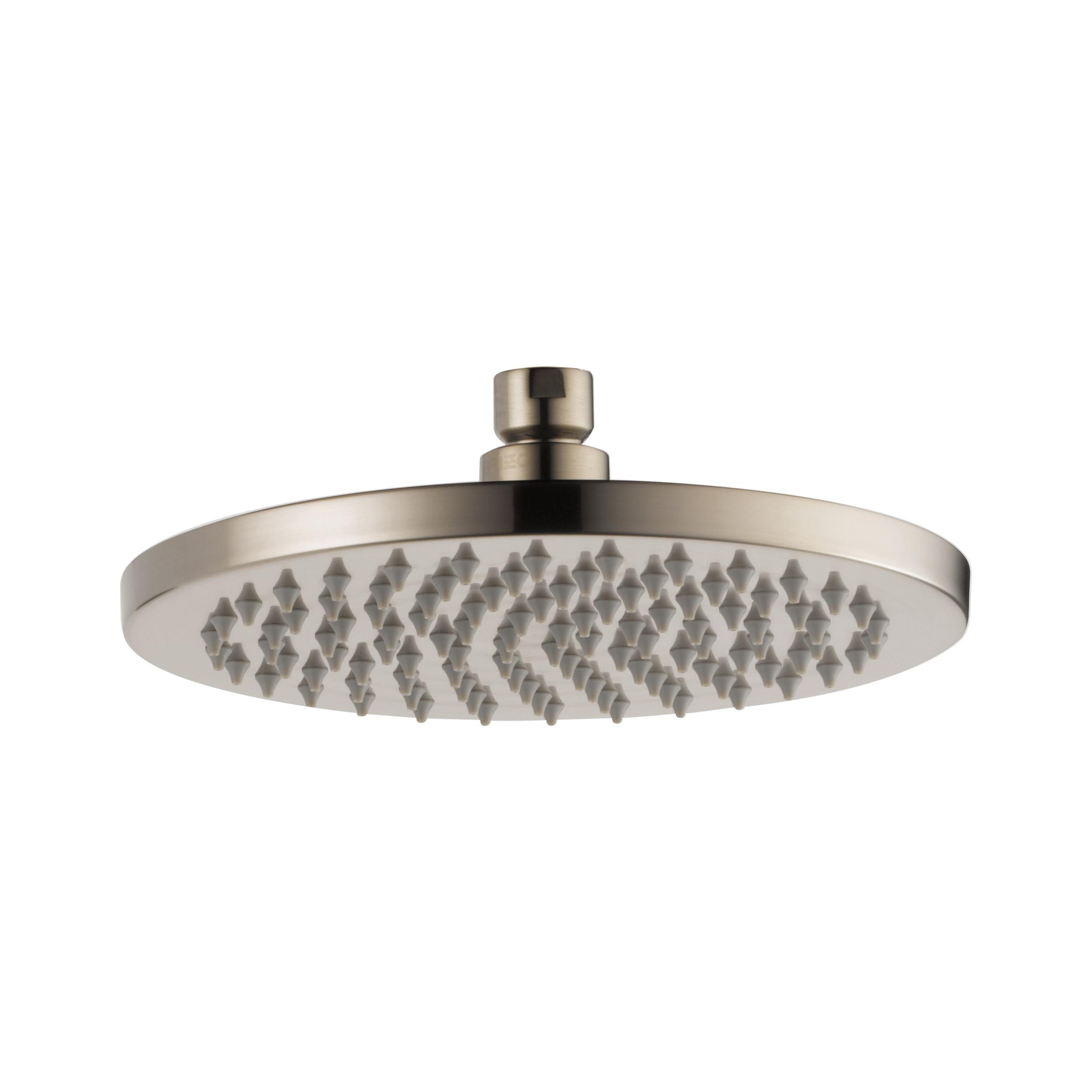 Brizo® 81375-BN-ECO Odin™ Raincan Shower Head, 2 gpm Maximum, 1 Spray, Ceiling Mount, 7-7/8 in Dia x 2-5/8 in H Head, Import