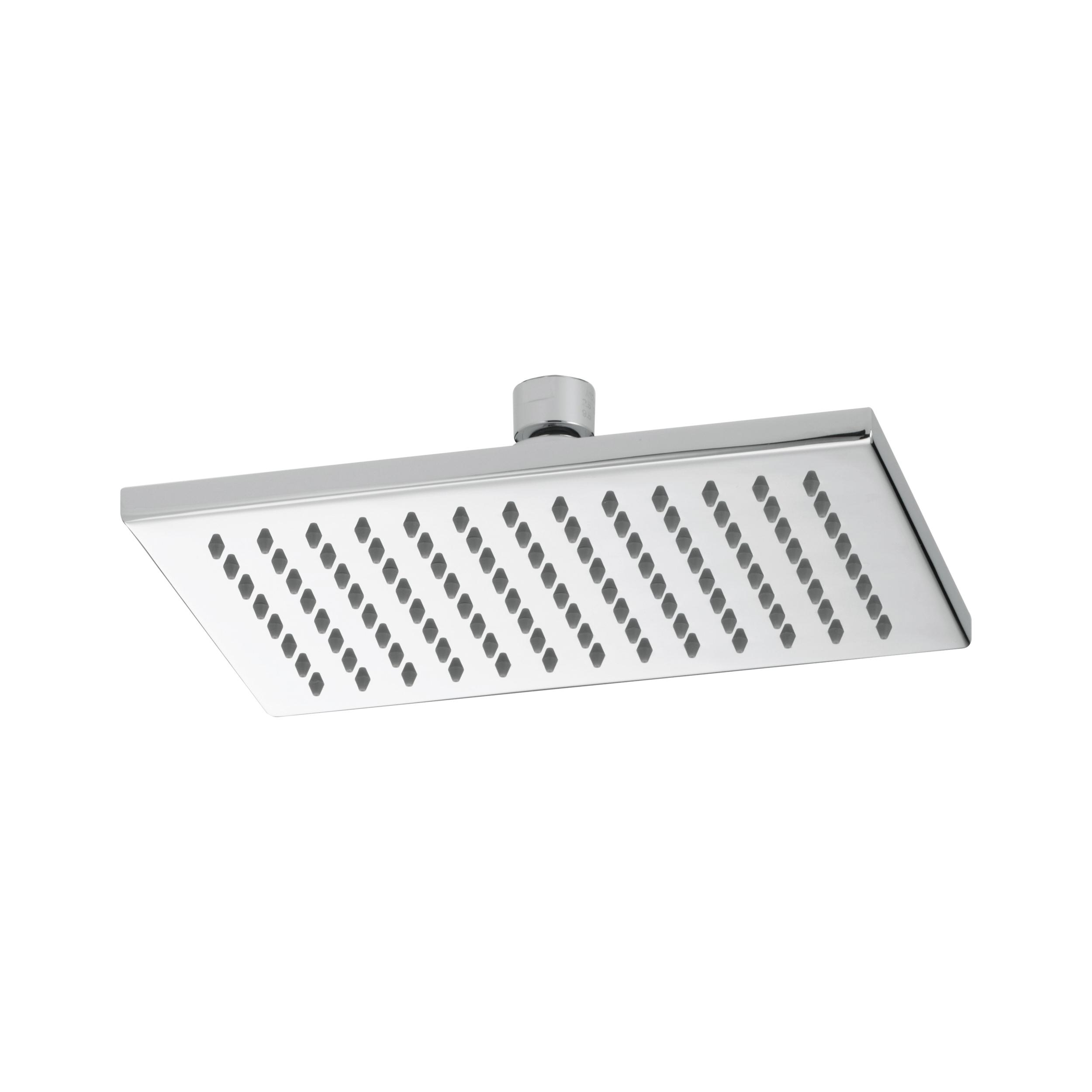 Brizo® 81380-PC-ECO Siderna® Raincan Shower Head, 2 gpm Maximum, 1 Spray, Ceiling/Wall Mount, 8-21/32 in L x 5-45/64 in W x 2-3/8 in H Head, Import