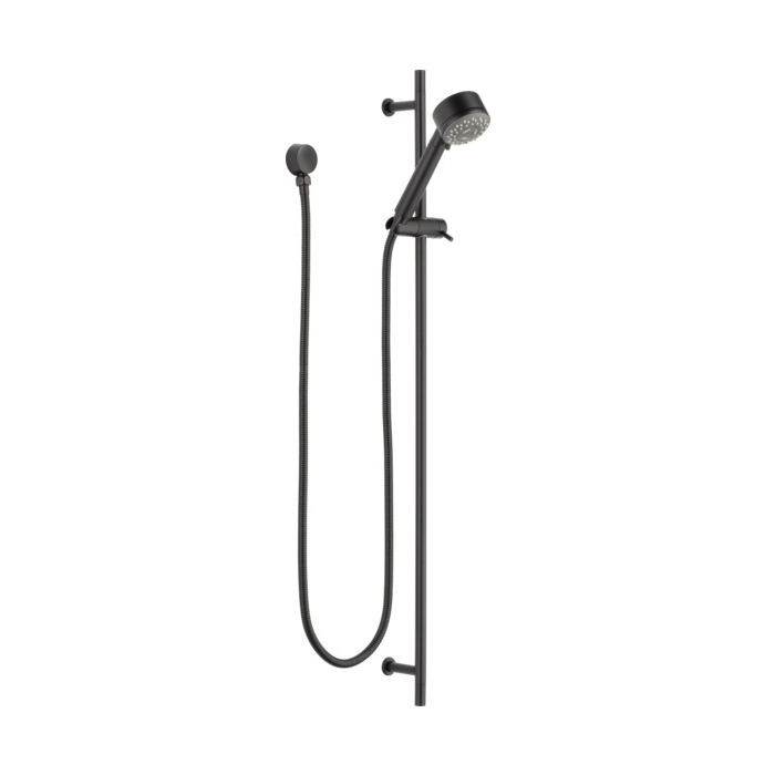 Brizo® 85521-BL Quiessence® Hand Shower, (3) Shower Head, 2 gpm, 60 to 82 in L Hose, 1/2-14 Male NPSM, Slide Bar: Yes, Matte Black, Import