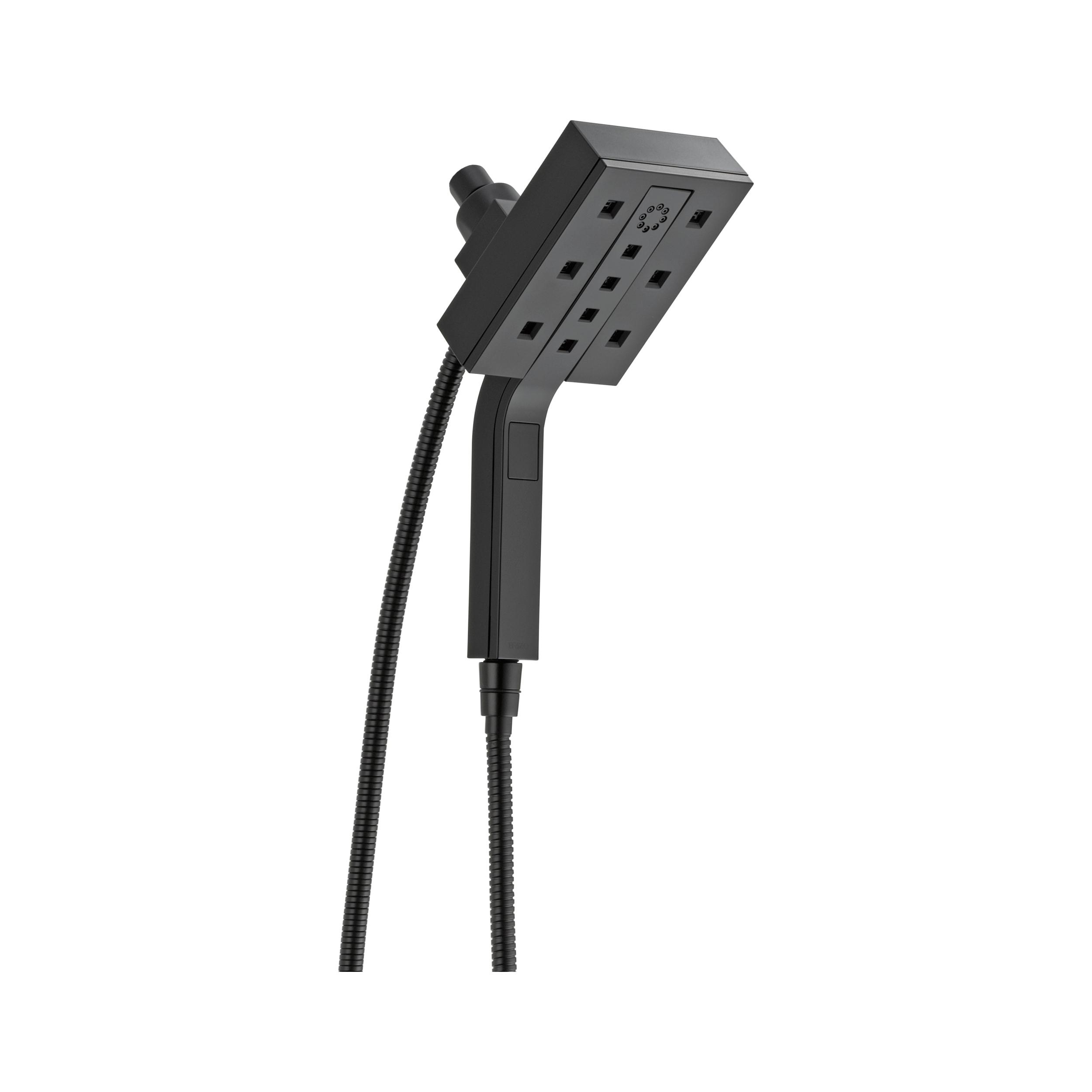 Brizo® 86280-BL-ECO Euro Square Hydrati® 2-in-1 Shower, (4) Shower Head, 1.3 gpm, 60 to 82 in L Hose, 1/2 in Female, Matte Black, Import