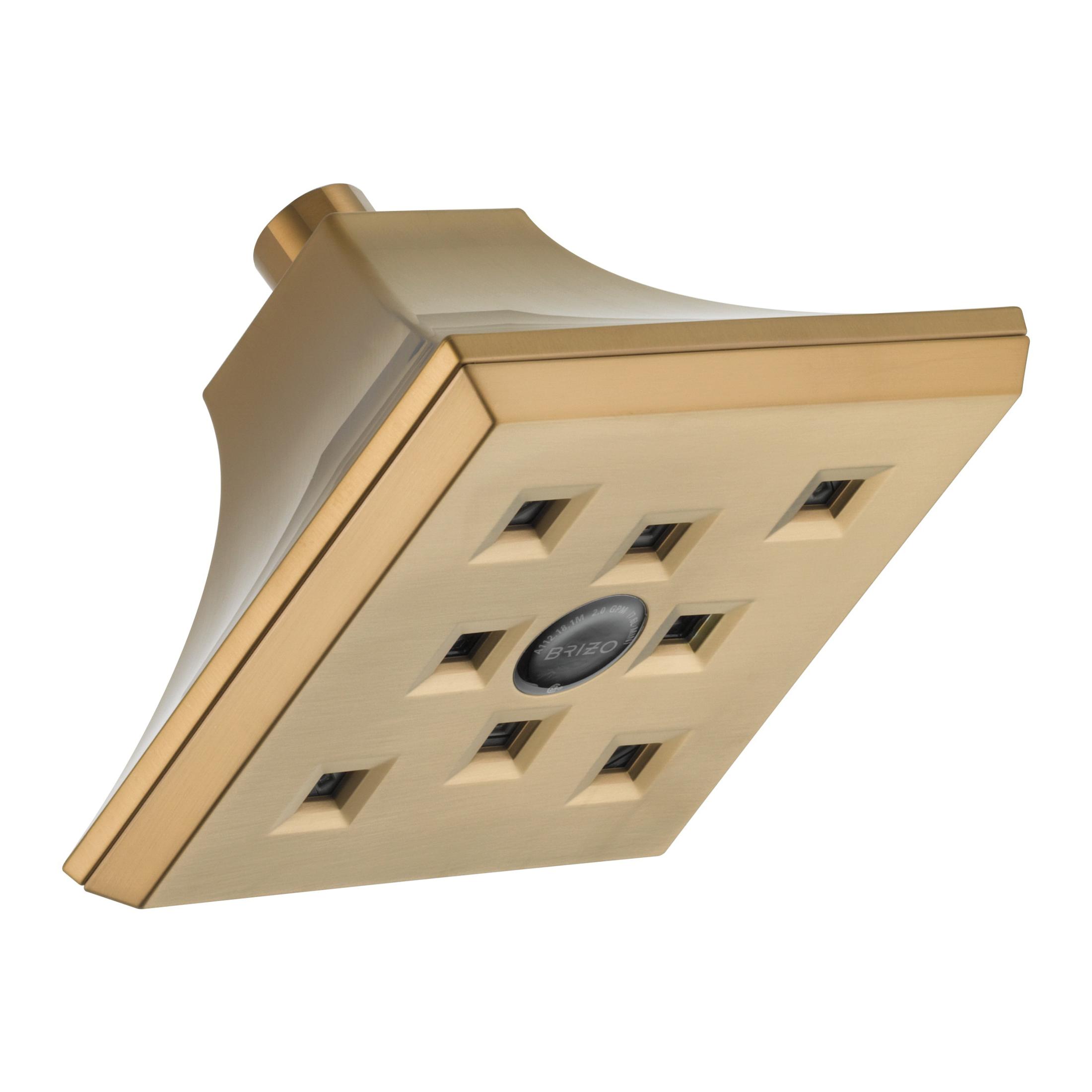 Brizo® 87390-BZ RSVP® Raincan Shower Head, 2 gpm, 1 Spray, Wall Mount, Import