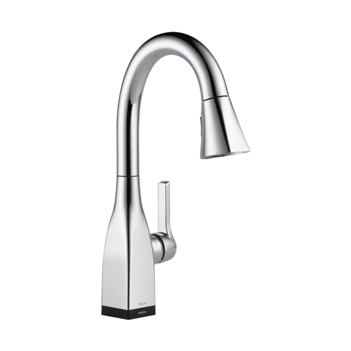 DELTA® 9983T-DST Mateo® Pull-Down Bar/Prep Faucet, 1.8 gpm, 8 in Center, 1 Handle, Chrome Plated, Domestic, Commercial