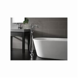 DELTA® 559HA-DST Trinsic® Lavatory Faucet, 1.2 gpm, 5-3/4 in H Spout, 1 Handle, Push Pop-Up Drain, 1 Faucet Hole, Chrome Plated, Domestic, Commercial