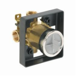 DELTA® R10000-IP Universal Tub and Shower Rough-In Valve Body, 1/2 in FNPT Inlet x 1/2 in FNPT Outlet, Forged Brass Body, Domestic