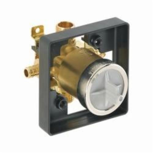DELTA® R10000-PX Universal Tub and Shower Rough-In Valve Body, 1/2 in PEX Crimp Inlet x 1/2 in PEX Crimp Outlet, Forged Brass Body, Domestic