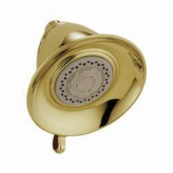 DELTA® RP34355PB Victorian® Universal Premium Shower Head, 2.5 gpm, 3 Sprays, Wall Mount, 5-1/2 x 4-1/4 in Head, Domestic