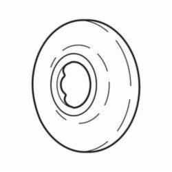DELTA® RP6025PB Leland® Shower Flange, 2-1/2 in OD, Domestic