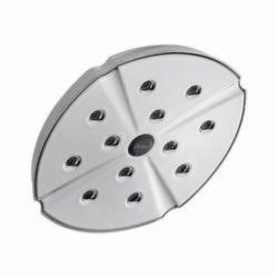 DELTA® RP61274 Addison™ Raincan Shower Head, 2.5 gpm, 1 Spray, Wall Mount, 8-3/16 x 2-3/4 in Head, Domestic