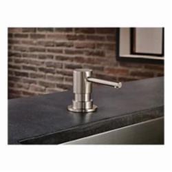 Brizo® RP79275SS Solna® Contemporary Soap/Lotion Dispenser, 13 oz Bottle, Deck Mount, Domestic