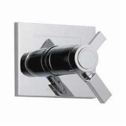 DELTA® T17T053 TempAssure® 17T 2-Function Valve Trim Only, 2.5 gpm Shower, Chrome Plated