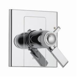 DELTA® T17T086 TempAssure® 17T 2-Function Valve Only Trim, 2 gpm Shower, Chrome Plated
