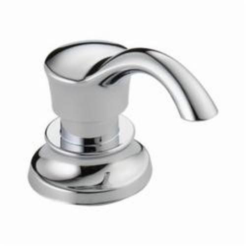 DELTA® RP71543 Cassidy™ Soap/Lotion Dispenser, 13 oz, Deck Mount, Brass, Chrome Plated