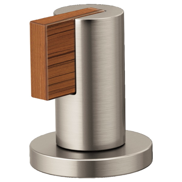 Brizo® HL5332-NKTK Litze™ Two Lavatory Faucet Lever Handle Kit, Luxe Nickel/Teak Wood, Import