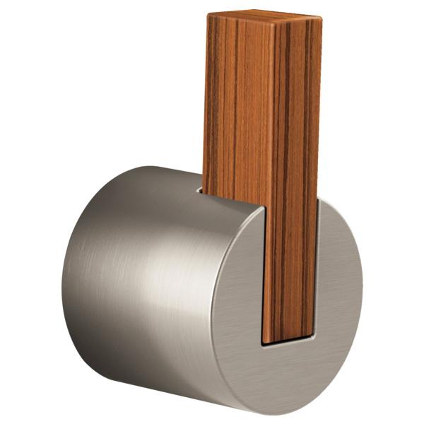 Brizo® HL7032-NKTK Litze™ Single Freestanding Tub Filler Lever Handle Kit, Luxe Nickel/Teak Wood, Import