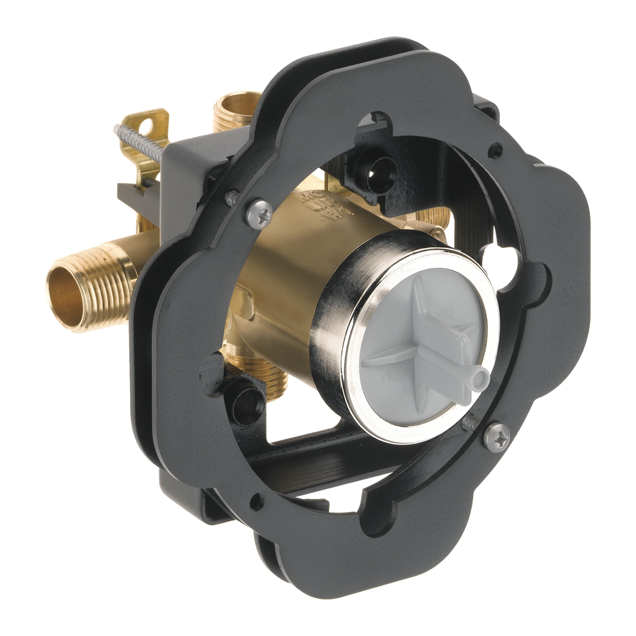 DELTA® R10000-UNWSBXT Universal Tub and Shower Valve Body, MultiChoice®, 1/2 in Universal Inlet/Outlet, For Use With: MultiChoice® Universal Single or Dual Function Trim, Forged Brass, Domestic
