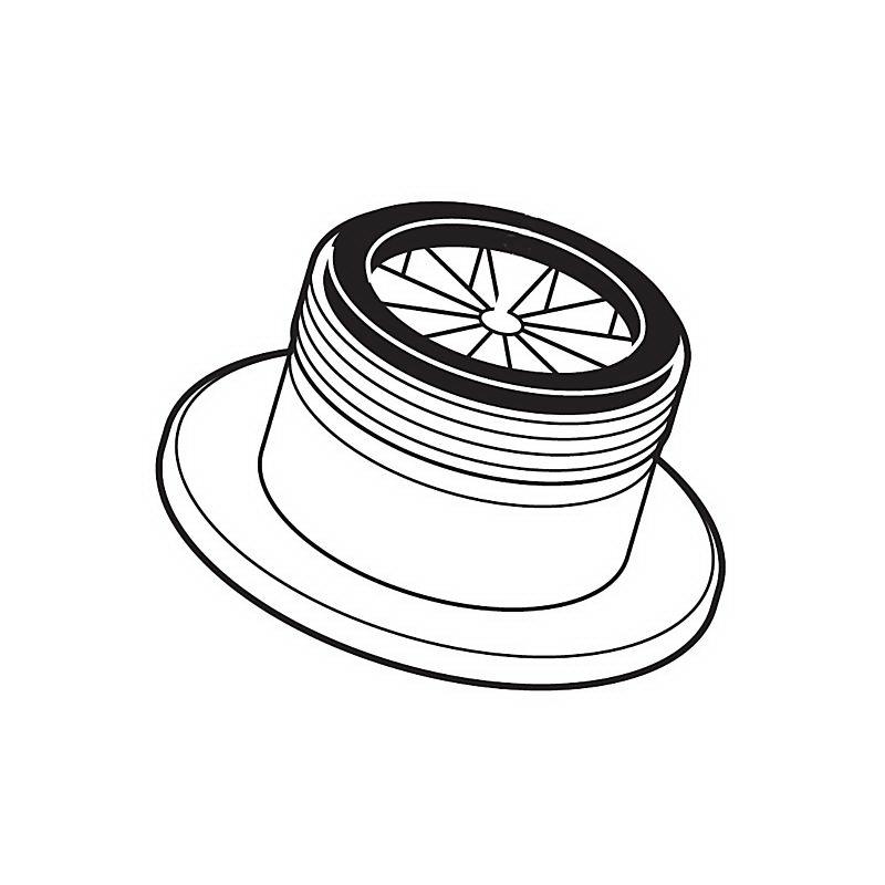 Brizo® RP24211PN Stream Straightener Aerator, Polished Nickel