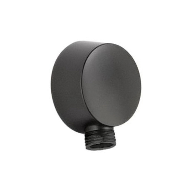 Brizo® RP42313BL Jason Wu Complete Wall Outlet, For Use With Quiessence® Series Model 85521 Multi-Function Slide Bar Hand Shower, Matte Black
