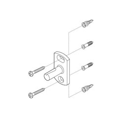 Brizo® RP50676 RSVP® Mounting Hardware, For Use With Model 69918 and 69924 Single Towel Bar, Import