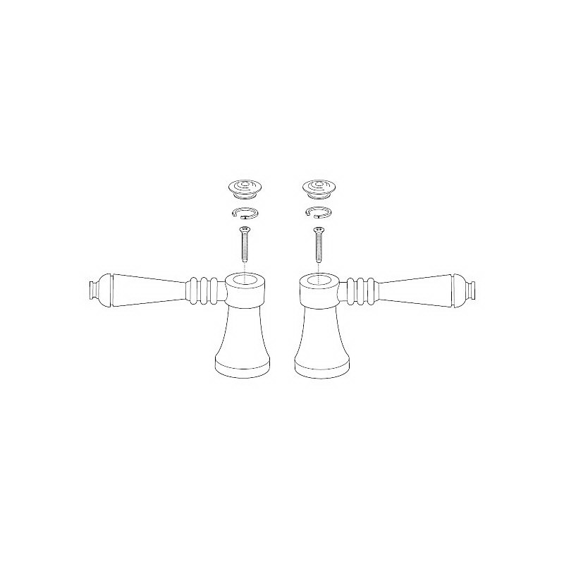 Brizo® RP52399BN Tresa® Single Roman Tub and Lavatory Faucet Lever Handle Kit, Metal, Brushed Nickel, Domestic