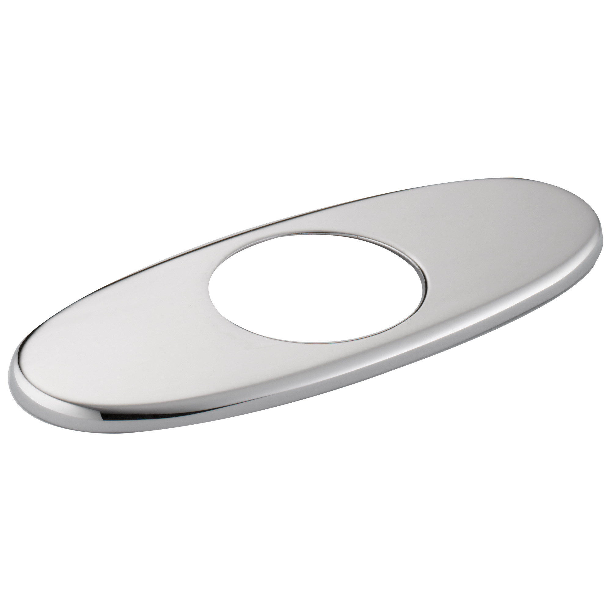 Brizo® RP54978PC Quiessence® Escutcheon, For Use With Model 65014LF 1-Handle Lavatory Faucet, 4 in, 3/16 in H, Chrome Plated, Import