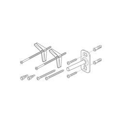 Brizo® RP70590 Charlotte® Mounting Hardware, For Use With Model 698085 Wall Mirror, Import