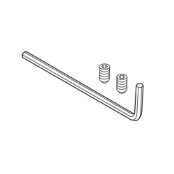 Brizo® RP70591 Charlotte® Hex Key and Set Screw, For Use With Model 698085 Wall Mirror, Import